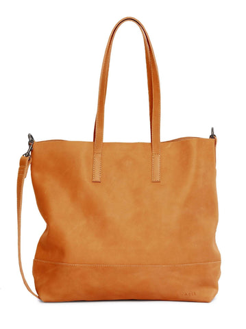 Able Abera Crossbody Tote Cognac Handbags in  at Wrapsody
