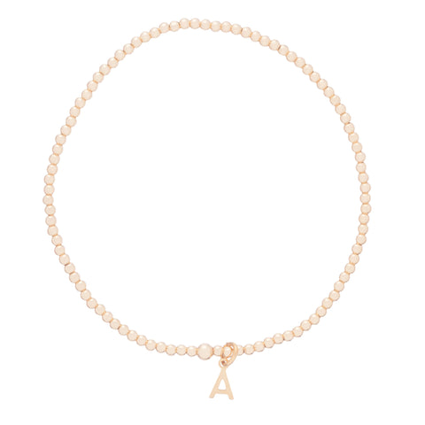 Enewton Design Classic Gold 2mm Bracelet with Initial Charm Bracelets in  at Wrapsody