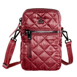 Oliver Thomas 24 + 7 Cell Phone Crossbody Bag in multiple colors Handbags in Bordeaux at Wrapsody