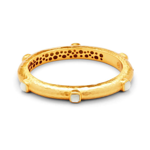 Julie Vos Catalina Hinge Bangle - Gold Pearl