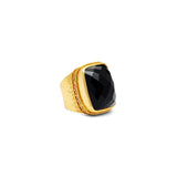Julie Vos Catalina Statement Ring - Onyx Size 8/9