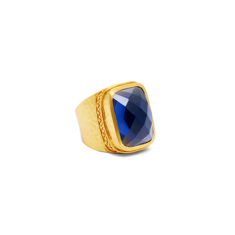 Julie Vos Catalina Statement Ring Sapphire Blue - Size 6/7