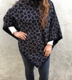 Barefoot Dreams CozyChic Leopard Poncho Loungewear in  at Wrapsody