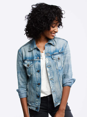 Able Denim Jacket Sweaters in Merly at Wrapsody