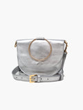 Able Fozi Slim Satchel Bag in multiple colors Handbags in Silver Metallic at Wrapsody
