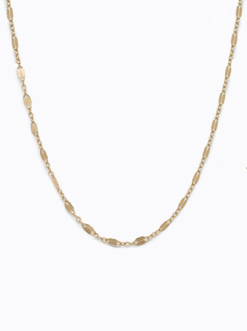 Able Metal Link Choker Necklace in Gold