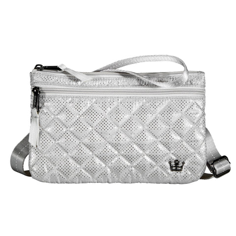 Oliver Thomas Fourplay Crossbody in multiple colors Handbags in Metallic Silver at Wrapsody