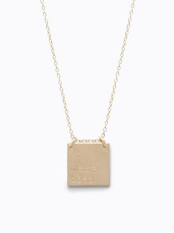 Able Necklace Phrase Gold