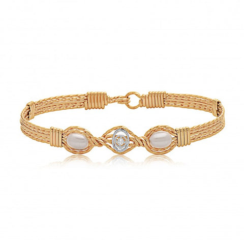 Ronaldo Desirable Bracelet Wide, Gold