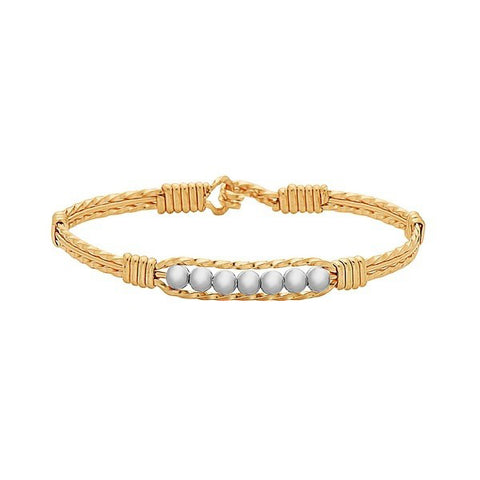 Ronaldo Power of Prayer Bracelet Gold with Silver Beads Bracelets in  at Wrapsody