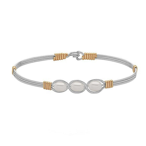 Ronaldo Waverly Bracelet Silver with Gold