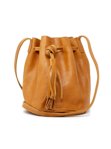 Able Maria Bucket Bag Handbags in Cognac at Wrapsody