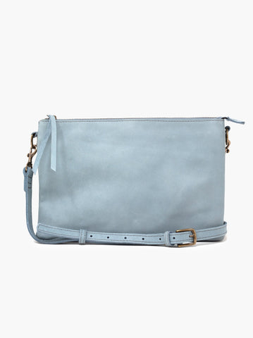 Able Martha Crossbody in Ice Blue Handbags in Ice Blue at Wrapsody
