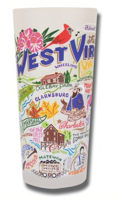 Catstudio Glass - West Virginia Drinkware in  at Wrapsody