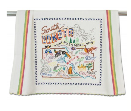 Catstudio Dish Towel - South Dakota Kitchen Towels in  at Wrapsody
