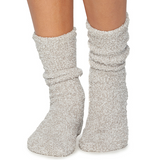Barefoot Dreams CozyChic Heathered Socks Loungewear in Oyster at Wrapsody