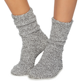 Barefoot Dreams CozyChic Heathered Socks Loungewear in Graphite at Wrapsody