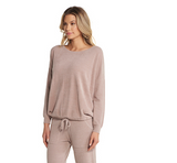 Barefoot Dreams Ultra Lite Slouchy Pullover Loungewear in FadedRose at Wrapsody