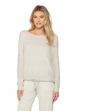 Barefoot Dreams Ultra Lite Slouchy Pullover Loungewear in FogGray at Wrapsody