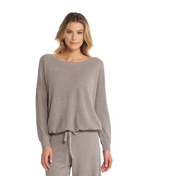 Barefoot Dreams Ultra Lite Slouchy Pullover Loungewear in BeachRock at Wrapsody