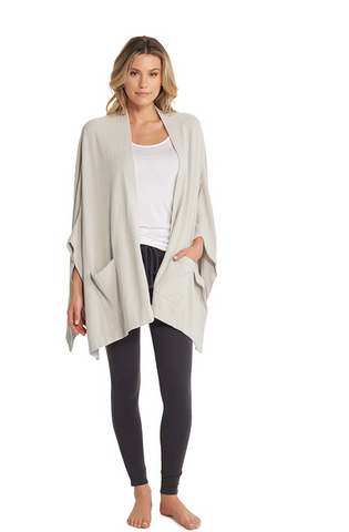 Barefoot Dreams Kimono Ultra Lite Sweater - Fog Grey (One Size) Sweaters in  at Wrapsody