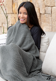 Barefoot Dreams CozyChic Lite Ribbed Throw Blankets & Throws in  at Wrapsody