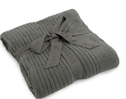 Barefoot Dreams CozyChic Lite Ribbed Throw Blankets & Throws in Loden at Wrapsody