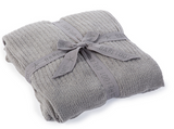 Barefoot Dreams CozyChic Lite Ribbed Throw Blankets & Throws in Pewter at Wrapsody