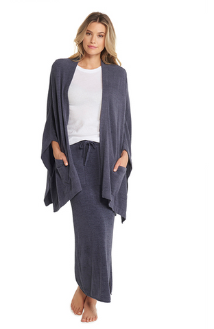 Barefoot Dreams CozyChic Ultra Lite Kimono - Pacific Blue (One Size) Sweaters in  at Wrapsody
