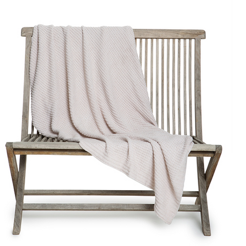 Barefoot Dreams Waffle Throw Blanket Blankets & Throws in Oatmeal at Wrapsody