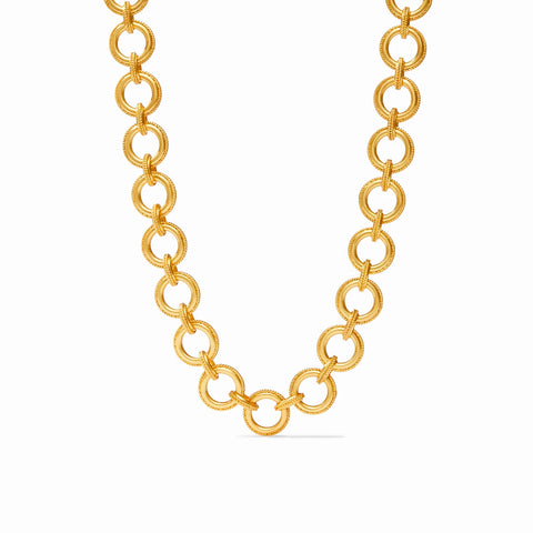Julie Vos Verona Link Necklace in Gold Necklaces in  at Wrapsody