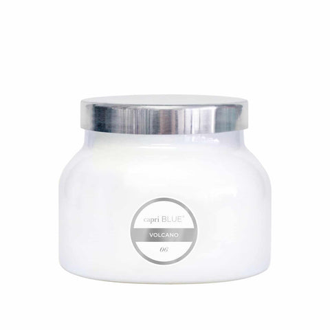 Capri Blue Volcano Candle White Jar Candles in  at Wrapsody