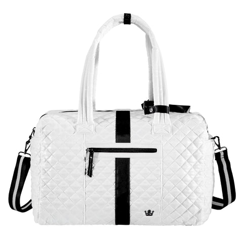 Oliver Thomas Kitchen Sink Duffle in multiple colors Travel Accessories in White Stripe at Wrapsody