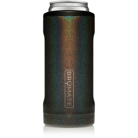 Hopsulator Slim Glitter Can Cooler Drinkware in Charcoal at Wrapsody