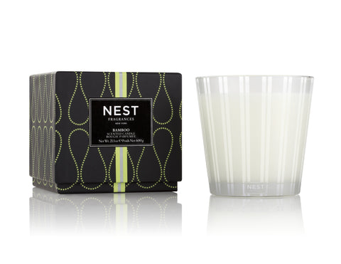Nest Fragrances 3-Wick Candle in multiple scents Candles in Bamboo at Wrapsody