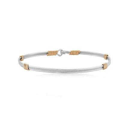 Ronaldo Be Kind Bracelet in Silver and Gold Bracelets in 6.5 at Wrapsody