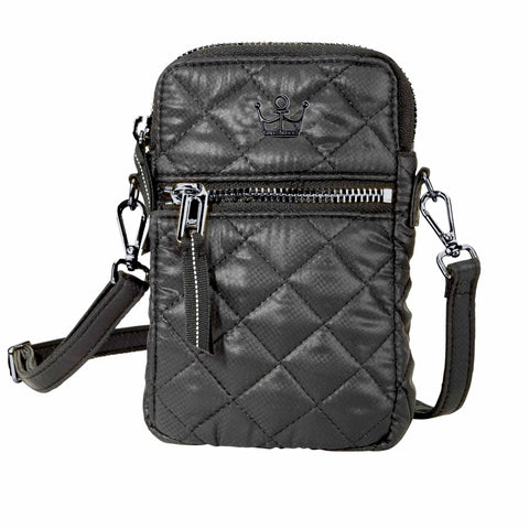 Oliver Thomas 24 + 7 Cell Phone Crossbody Bag in multiple colors Handbags in Black at Wrapsody