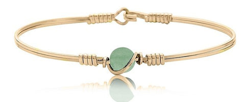 Ronaldo Breathe Bracelet Bracelets in Aventurine at Wrapsody