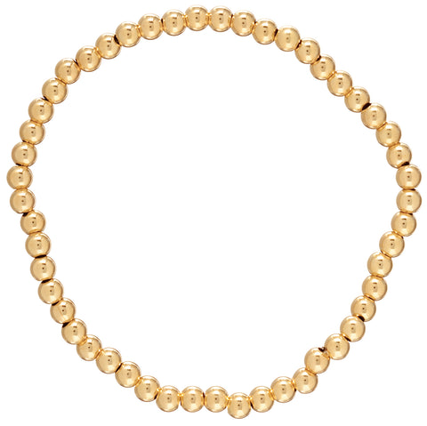 Enewton Classic Gold 4mm Bead Bracelet Bracelets in  at Wrapsody