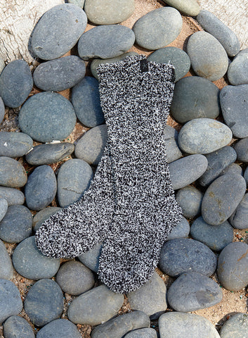 Barefoot Dreams CozyChic Heathered Socks Loungewear in Black at Wrapsody