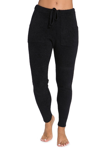 Barefoot Dreams CozyChic Lite Jogger Pants Loungewear in Black at Wrapsody
