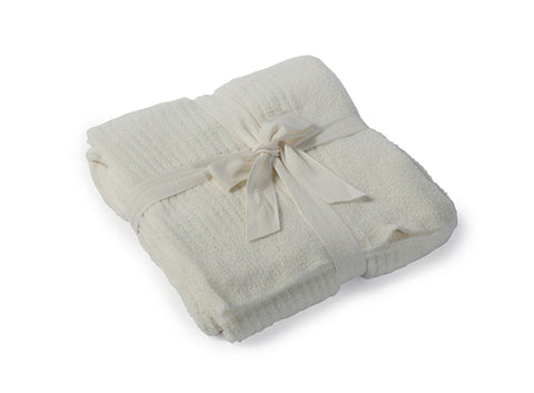 Barefoot Dreams CozyChic Lite Ribbed Throw Blankets & Throws in Pearl at Wrapsody