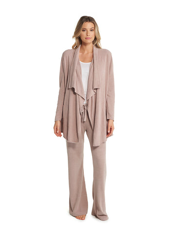 Barefoot Dreams CozyChic Ultralight High-Low Cardi Loungewear in Faded Rose at Wrapsody