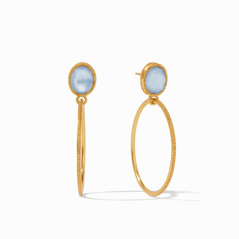 Julie Vos Verona Statement Earring Earrings in Chalcedony Blue at Wrapsody