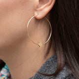 eNewton Signature Cross Hoop Earrings Matte Gold