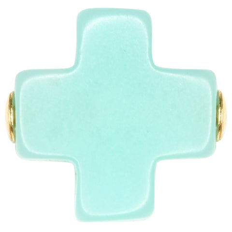 eNewton Signature Cross Stud Earrings Mint