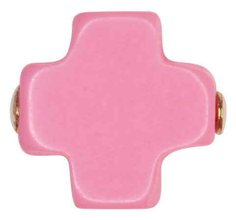 eNewton Signature Cross Stud Earrings Pink