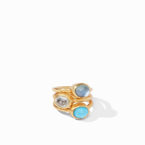 Julie Vos Jewel Stacking Ring Rings in  at Wrapsody