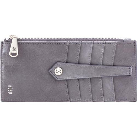Hobo - Linn Graphite Leather Credit Card Wallet