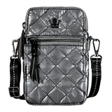 Oliver Thomas 24 + 7 Cell Phone Crossbody Bag in multiple colors Handbags in Gunmetal at Wrapsody